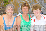 Enjoying themselves at The Brendan O'Callaghan 1500m classic swim held at The Ladies Slip, Fenit on Sunday afternoon were l/r Moira McCarthy, The Spa, Emer Hogan, Strand Rd. and Breda Talbot from Caherleaheen, Tralee...................................................................................................................................................................................................................... ............