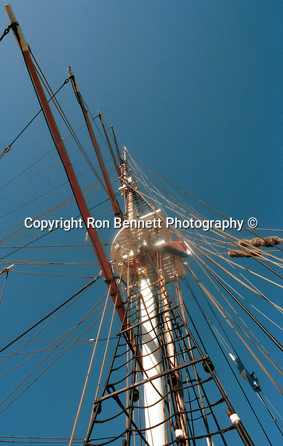 Crows nest mast on tall ship California, California Fine Art Photography by Ron Bennett,