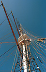 Crows nest mast on tall ship California, California Fine Art Photography by Ron Bennett,