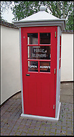 BNPS.co.uk (01202 558833)<br /> Pic: AmberleyPublishing/BNPS<br /> <br /> Kiosk K1 Mark 235, but with a plain pyramidal roof. This example is on display at Avoncroft Museum of Historic Buildings.<br /> <br /> The iconic British phonebox has been given a ringing endorsement in a new book charting the expiring institution's fascinating history. <br /> <br /> Aptly titled 'The British Phonebox', the book primarily focuses on the ubiquitous design that's as emblematic to Britain as the black cab, double decker bus and Houses of Parliament. <br /> <br /> Equally interesting are the early chapters, which detail the phonebox's humble 19th century beginnings and the final ones, that bemoan their dwindling numbers <br /> <br /> The 96 page paperback, jointly authored by friends Nigel Linge and Andy Sutton, is published by Amberley and costs &pound;13.49.