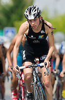 01 SEP 2013 - SARTROUVILLE, FRA - Hannah Drewett  racing for SAS Triathlon 37, climbs a hill on the bike during the women's Grand Prix de Triathlon de Sartrouville in Sartrouville, France (PHOTO COPYRIGHT © 2013 NIGEL FARROW, ALL RIGHTS RESERVED)