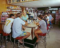 1960's retro coffee shop counter photograph