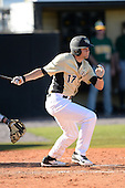 Central Florida Knights outfielder Derrick Salberg (17) during a game against the Siena Saints at Jay Bergman Field on February 16, 2014 in Orlando, Florida.  UCF defeated Siena 9-6.  (Copyright Mike Janes Photography)