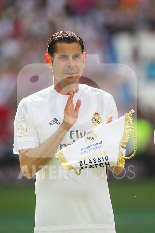 Fernando Hierro during the Corazon Classic Match 2016 at Estadio Santiago Bernabeu between Real Madrid Legends and Ajax Legends. Jun 5,2016. (ALTERPHOTOS/Rodrigo Jimenez)