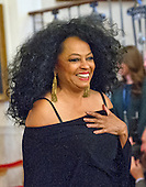 Singer Diana Ross arrives to accept Presidential Medal of Freedom, the Nation's highest civilian honor, from United States President Barack Obama in the East Room of the White House in Washington, DC on November 22, 2016.<br /> Credit: Ron Sachs / CNP