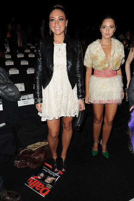 WWW.ACEPIXS.COM . . . . . .February 8, 2013...New York City....Sammi Giancola and Paula Garces attend the Project Runway Fall 2013 Mercedes-Benz Fashion Show at The Theater at Lincoln Center on February 8, 2013 in New York City ....Please byline: KRISTIN CALLAHAN - ACEPIXS.COM.. . . . . . ..Ace Pictures, Inc: ..tel: (212) 243 8787 or (646) 769 0430..e-mail: info@acepixs.com..web: http://www.acepixs.com .