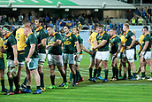 9th September 2017, nib Stadium, Perth, Australia; Supersport Rugby Championship, Australia versus South Africa; Wallabies and South African players congratulate each other on the drawn game