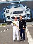 Daley Thompson and Nigel Roberts  torchbearer at the Olympic Torch Relay at MINI Plant Oxford on Monday 9th July 2012  Picture By: Brian Jordan / Retna Pictures.. ..-..