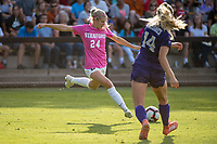 STANFORD, CA - OCTOBER 12: Abby Greubel #24 of the Stanford Cardinal during a game between the Stanford Cardinal and Washington Huskies women's soccer teams at Cagan Stadium on October 6, 2019 in Stanford, California. during a game between University of Washington and Stanford Soccer W at Laird Q. Cagan Stadium on October 12, 2019 in Stanford, California.