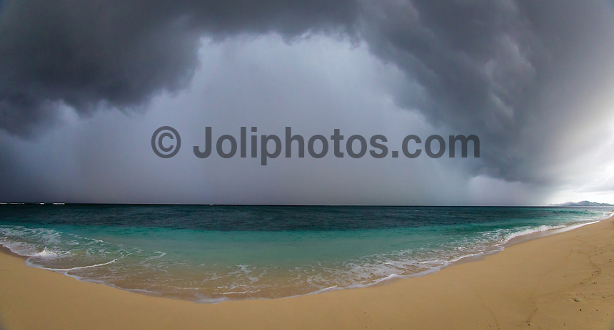 Namotu Island Resort, Fiji. (Tuesday, May 28, 2013) -   After a spectacular storm - cloud front combined with a thunder storm out to sea overcast conditions set in for most of the day. The surf was virtually flat but is forecast to come up to a decent size over the next few days Photo: joliphotos.com