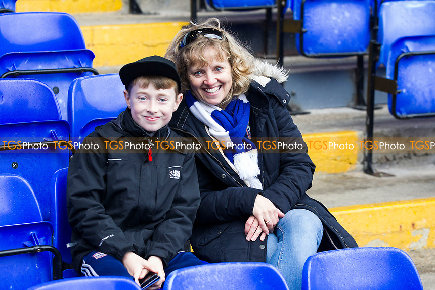 All smiles pre kick off from the home support during Ipswich Town vs Preston North End, Sky Bet EFL Championship Football at Portman Road on 4th November 2017