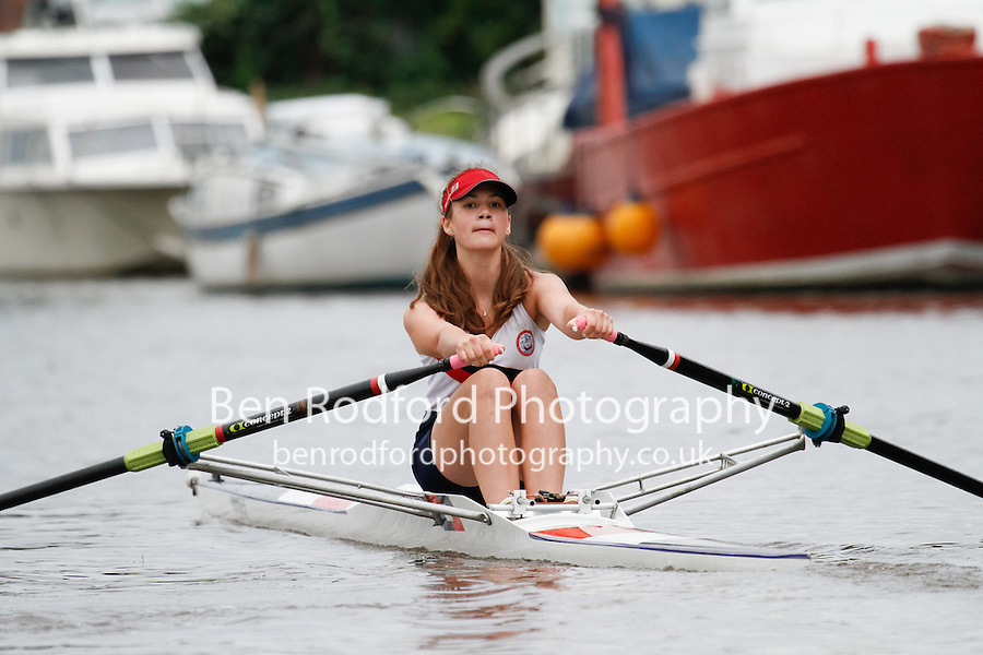 W.J14A.1x  Semi  (57) Leicester (Henry) vs (60) Pangbourne Nautics (Allen)<br /> <br /> Saturday - Gloucester Regatta 2016<br /> <br /> To purchase this photo, or to see pricing information for Prints and Downloads, click the blue 'Add to Cart' button at the top-right of the page.
