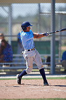 Tampa Bay Rays Oscar Rojas (61) during a Minor League Spring Training game against the Minnesota Twins on March 15, 2018 at CenturyLink Sports Complex in Fort Myers, Florida.  (Mike Janes/Four Seam Images)