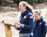 EAST MONTPELIER - USA Vermont Olympians speak at Morse Farm about the influence of climate change on winter sports they have experienced world wide and make suggestions on attacking the problem. Speaking, Susan Dunklee. Background Ida Sargent