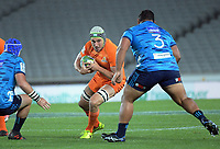 Guido Petti takes the ball up during the Super Rugby match between the Blues and Jaguares at Eden Park in Auckland, New Zealand on Friday, 28 April 2018. Photo: Dave Lintott / lintottphoto.co.nz