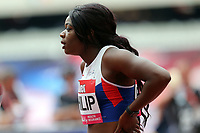 Asha Philip of Great Britain competes in the womenís 100 metres during the Muller Anniversary Games at The London Stadium on 9th July 2017