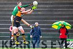 Damien Kelly St Michaels Foilmore punches the ball out of Kieran Donaghy hands Austin Stacks during the SFC relegation playoff in Killarney on Saturday
