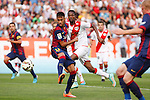 Rayo Vallecano´s Abdoulaye (R) and Barcelona´s Neymar Jr during La Liga match between Rayo Vallecano and Barcelona at Vallecas stadium in Madrid, Spain. October 04, 2014. (ALTERPHOTOS/Victor Blanco)