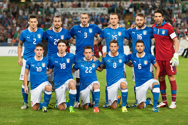 Argentina beats Italy 2-1 during the international friendly between Italy vs Argentina at Stadio Olimpico, in Rome, on August 14, 2013 in Rome. In the photo: team Italy. Photo: Adamo Di Loreto/BuenaVista*photo
