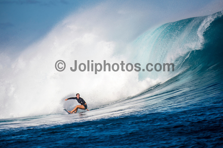 Namotu Island Resort, Namotu, Fiji. (Thursday May 29, 2014) Tyler Wright (AUS). –  The Fiji Women's Pro, Stop No. 5 of 10 on the 2014  Women's World Championship Tour (WCT) was won today by Australian Sally Fitzgibbons who defeated five times World Surfing Champion Stephanie Gilmore (AUS) in the 35 minute final. The last day of the event was held at Cloudbreak in solid 6'-8' surf, possibly the largest surf an Women's World Tour event ah ever been run. The final day saw the remaining heats of Round 4 completed then right through to the final. Photo: joliphotos.com