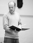 """King Lear"" rehearsed reading rehearsals. Old Vic Theatre. Director: Jonathan Miller. Jack Tarlton."