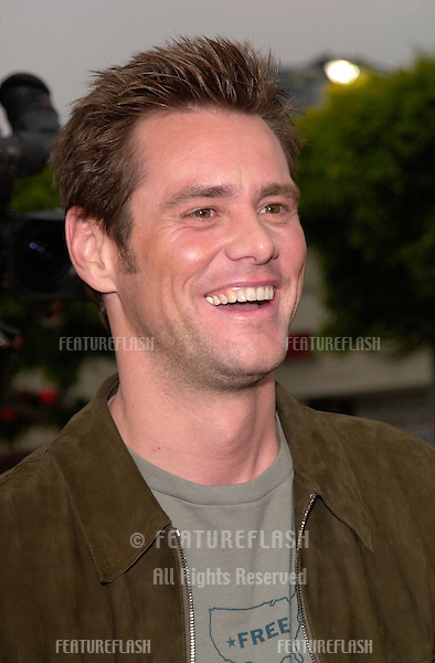 Actor JIM CARREY at the Los Angeles premiere of his new movie Me, Myself & Irene.