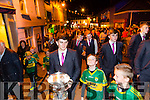 The Home Coming -The  kerry Minor Team are Welcomed back to Dingle on Tuesday Pictured Mark O'Connor with the Tom Markham Cup in the Parade