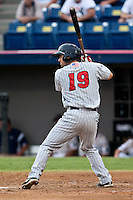 Brian Dozier (19) of the Ft. Myers Miracle during a game vs. the Brevard County Manatees May 29 2010 at Space Coast Stadium in Viera, Florida. Ft. Myers won the game against Jupiter by the score of 3-2. Photo By Scott Jontes/Four Seam Images