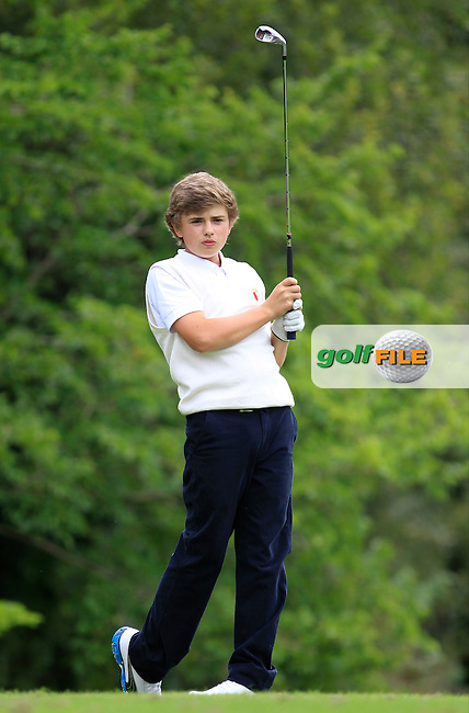 Jack Madden (Ulster) on the 4th tee during the Boys Under 15 Interprovincial Championship Afternoon Round at the West Waterford Golf Club on Wednesday 22nd August 2013 <br /> Picture:  Thos Caffrey/ www.golffile.ie