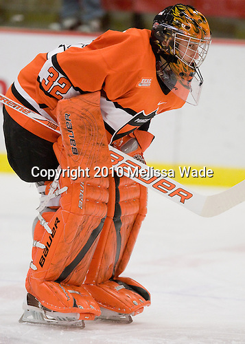 Zane Kalemba (Princeton - 32) - The Princeton University Tigers defeated the Harvard University Crimson 2-1 on Friday, January 29, 2010, at Bright Hockey Center in Cambridge, Massachusetts.