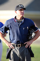 June 18th 2008:  Home plate umpire Chris Graham during a game at Dwyer Stadium in Batavia, NY.  Photo by:  Mike Janes/Four Seam Images