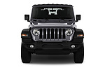 Car photography straight front view of a 2018 JEEP Wrangler Sport 3 Door SUV Front View