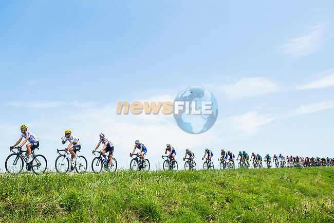 The peloton in action during Stage 6 of the 104th edition of the Tour de France 2017, running 216km from Vesoul to Troyes, France. 6th July 2017.<br /> Picture: ASO/Alex Broadway | Cyclefile<br /> <br /> <br /> All photos usage must carry mandatory copyright credit (&copy; Cyclefile | ASO/Alex Broadway)