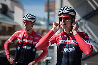 Bauke Mollema (NED/Trek-Segafredo) prepping for a relaxed trainingride on the 3rd restday during the 100th Giro d'Italia 2017