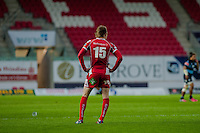 Saturday 10 May 2014<br /> Pictured: Liam Williams of the Scarlets<br /> Re: Scarlets v Blues Rabo Direct Pro 12 Rugby Union Match at Parc y Scarlets, Llanelli, Wales