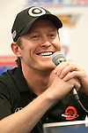 30 May 2008: Scott Dixon (NZL) at a press conference prior to the ABC Supply Company Inc. AJ Foyt 225 IndyCar race at the Milwaukee Mile, West Allis, Wisconsin.