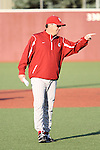 Donnie Marbut, Washington State University head baseball coach, instructs his Cougar players during a practice at Bailey-Brayton Field on the WSU campus in Pullman, Washington, on September 10, 2010.