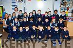 Teacher Ms Evelyn McCarthy with her new Junior Infants who started in St Oliver's NS, Killarney on Thursday last, front l-r: John Dooley, Charlie Neri, Luke Murphy, Andrew Bilokhvost, Noah O'Sullivan, Leon Hebda, Kieran Andriskon, Wojtek Zglinski. Middle l-r: Ms McCarthy, Altea Biellvaocaite, Chiarda Tadai, Lorena Horvat, Nafesa Rayhan, Aria Courtney Sheehan, Kyle Cullinan, Gabija Gelciute, Fionn Culloty. Back l-r: Ciara Guban, Ms Judy O'Shea, Marcel Kaczmarek, Emilia Kucman, Eve Coleman, Katherine Losoka, Michael O'Brien, Fionn Twomey, Evan O'Donoghue, Rayat Kahn and Jakub Piedel.