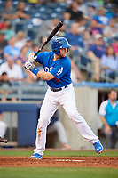 Tulsa Drillers first baseman Wynston Sawyer (6) at bat during a game against the Corpus Christi Hooks on June 3, 2017 at ONEOK Field in Tulsa, Oklahoma.  Corpus Christi defeated Tulsa 5-3.  (Mike Janes/Four Seam Images)