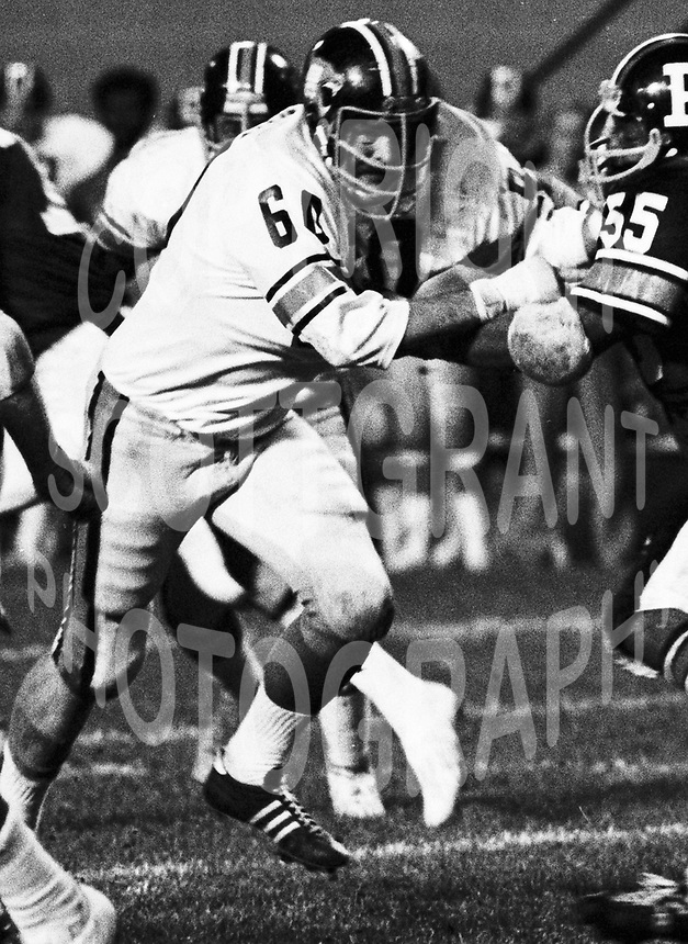 Don Wunderly BC Lions 1975. Copyright photograph Scott Grant