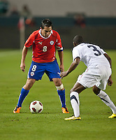 CARSON, CA – JANUARY 22: Chile midfielder Fernando Meneses (8) during the international friendly match between USA and Chile at the Home Depot Center, January 22, 2011 in Carson, California. Final score USA 1, Chile 1.