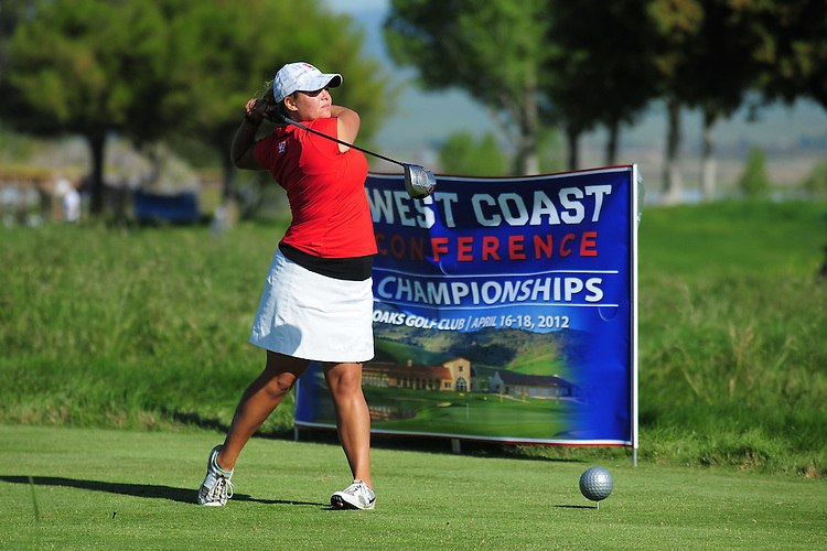 April 17, 2012; Hollister, CA, USA; Seattle Redhawks golfer Shannon Quinn during the WCC Golf Championships at San Juan Oaks Golf Club.