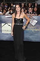 LOS ANGELES, CA - NOVEMBER 12: Justine Wachsberger at the premiere of Summit Entertainment's 'The Twilight Saga: Breaking Dawn - Part 2' at the Nokia Theatre L.A. Live on November 12, 2012 in Los Angeles, California. Credit: mpi29/MediaPunch Inc. /NortePhoto