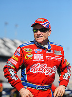 Feb 08, 2009; Daytona Beach, FL, USA; NASCAR Sprint Cup Series driver Mark Martin during qualifying for the Daytona 500 at Daytona International Speedway. Mandatory Credit: Mark J. Rebilas-