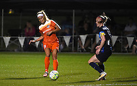 Kansas City, MO - Saturday May 07, 2016: Houston Dash forward Rachel Daly (3) against FC Kansas City defender Becky Sauerbrunn (4) during a regular season National Women's Soccer League (NWSL) match at Swope Soccer Village. Houston won 2-1.