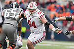 Wisconsin Badgers defensive lineman Conor Sheehy (94) during an NCAA College Big Ten Conference football game against the Illinois Fighting Illini Saturday, October 28, 2017, in Champaign, Illinois. The Badgers won 24-10. (Photo by David Stluka)