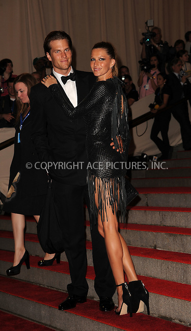 WWW.ACEPIXS.COM . . . . . ....May 3 2010, New York City....Gisele Bundchen and Tom Brady arriving at the Costume Institute Gala Benefit to celebrate the opening of the 'American Woman: Fashioning a National Identity' exhibition at The Metropolitan Museum of Art on May 3, 2010 in New York City.....Please byline: KRISTIN CALLAHAN - ACEPIXS.COM.. . . . . . ..Ace Pictures, Inc:  ..(212) 243-8787 or (646) 679 0430..e-mail: picturedesk@acepixs.com..web: http://www.acepixs.com