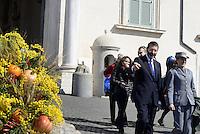 Roma, 7 Marzo 2015<br /> Quirinale.<br /> Ignazio Marino<br /> Giornata internazionale dela donna, <br /> celebrazione dedicata al tema &quot;Donne per la Terra&quot;.<br /> Nalla foto Ignazio Marino e la guardia d'onore composta da personale femminile del corpo forestale dello Stato.