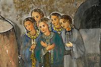 Nordzypern, Fresken in der Kirche des Barnabas-Kloster (Agios Varnavas) erzählen die Geschichte von der Auffindung des Grabes von St. Barnabas