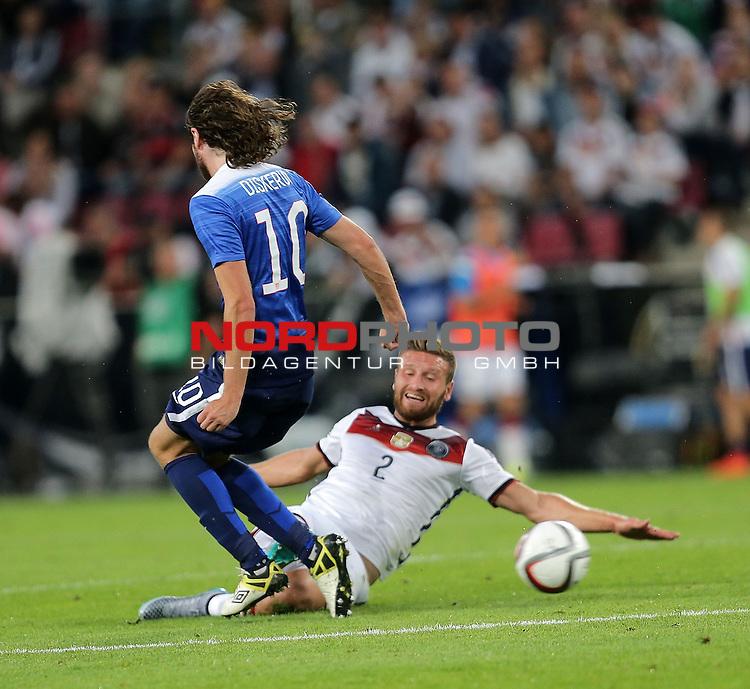 DFB Freundschaftsl&auml;nderspiel, Deutschland vs. USA<br /> Mix Diskerud (USA), Shkodran Mustafi (Deutschland)<br /> <br /> Foto &copy; nordphoto /  Bratic